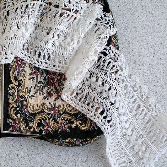 Telar de horquilla, Vintage, accesorios, collar de encaje de los ...