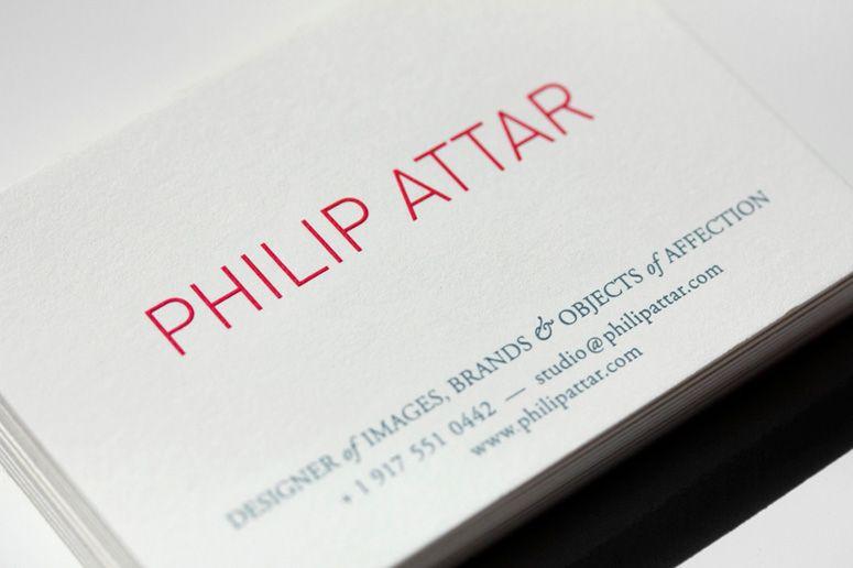 Philip Attar Business Cardsclever Title Designer Of Images Brands