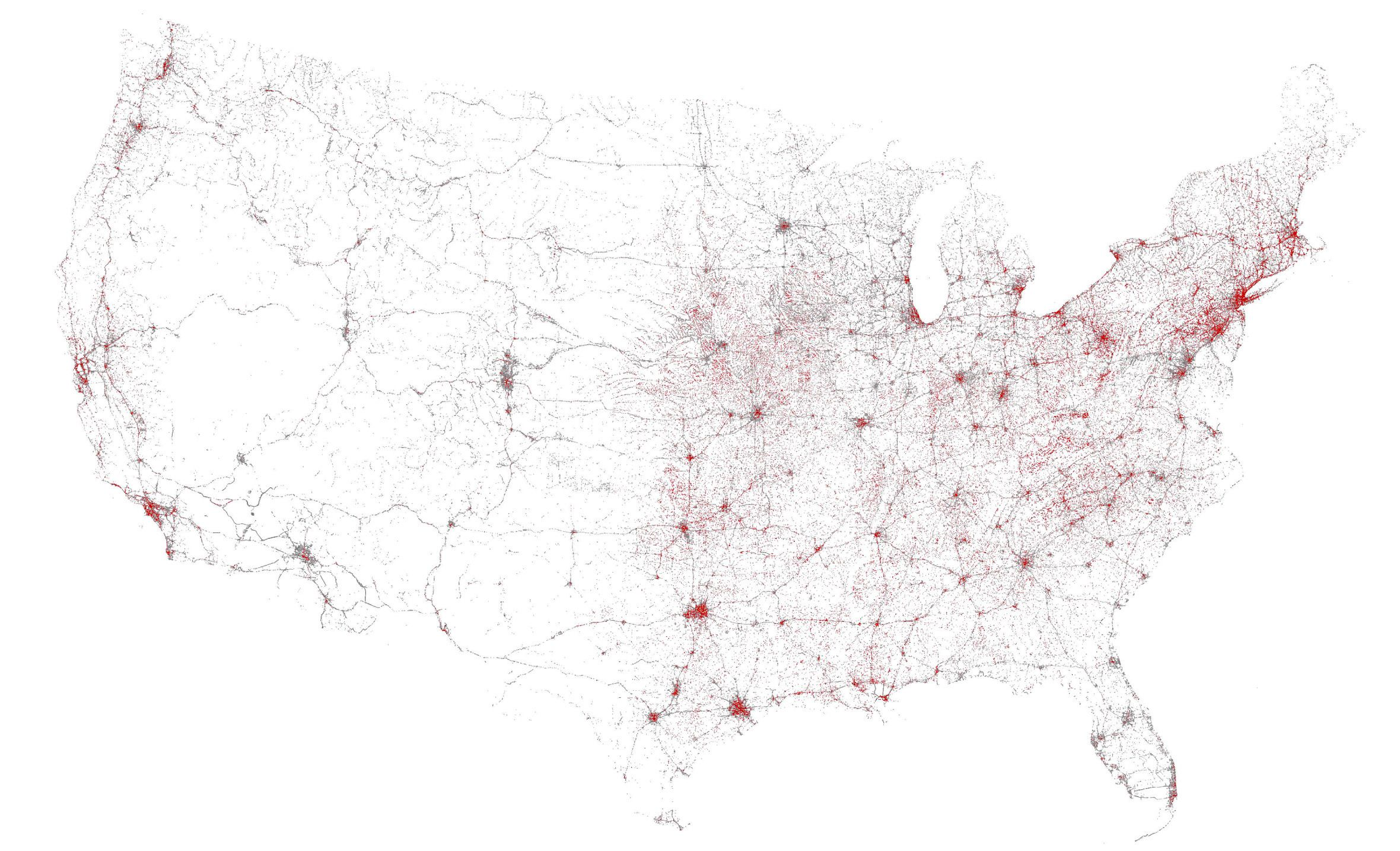 Six maps that show the anatomy of Americas vast infrastructure