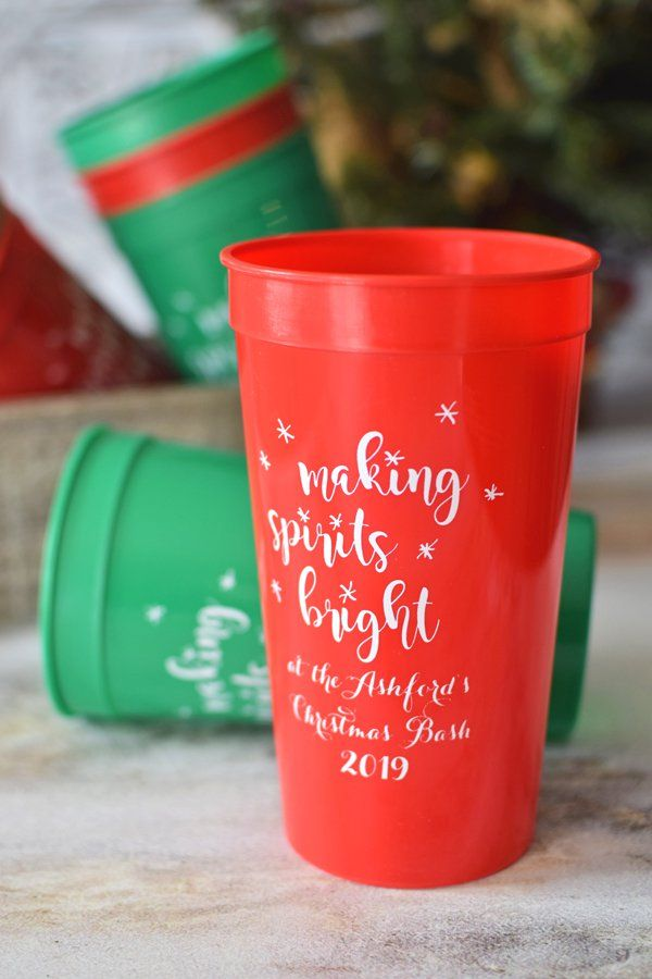 8a1f66f7ffb Extra Large Christmas Party Cups - Oversized, 32 oz personalized Christmas  stadium cups are the big gulps of party cups.