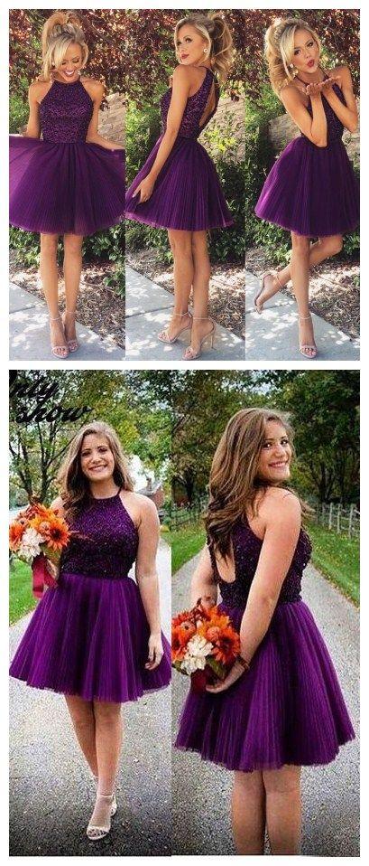 short haltaer prom dresses