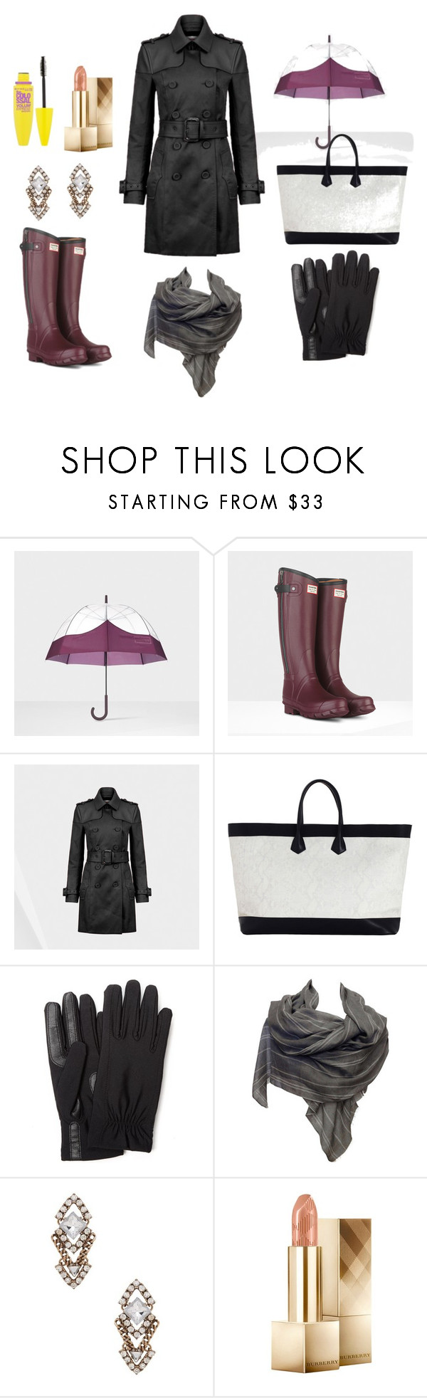 """""""a prueba de agua"""" by darlen-anzola ❤ liked on Polyvore featuring Hunter, Zimmermann, Isotoner, Denis Colomb, Sparkling Sage, Burberry and Maybelline"""