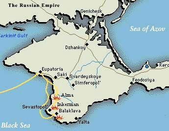 Map of Crimea | Crimean War | Crimean war, Sea of azov, Map Show Me A Map Of Crimea on show map of eastern europe, show map of romania, show map of moscow, show map of georgia, show map of asia minor,