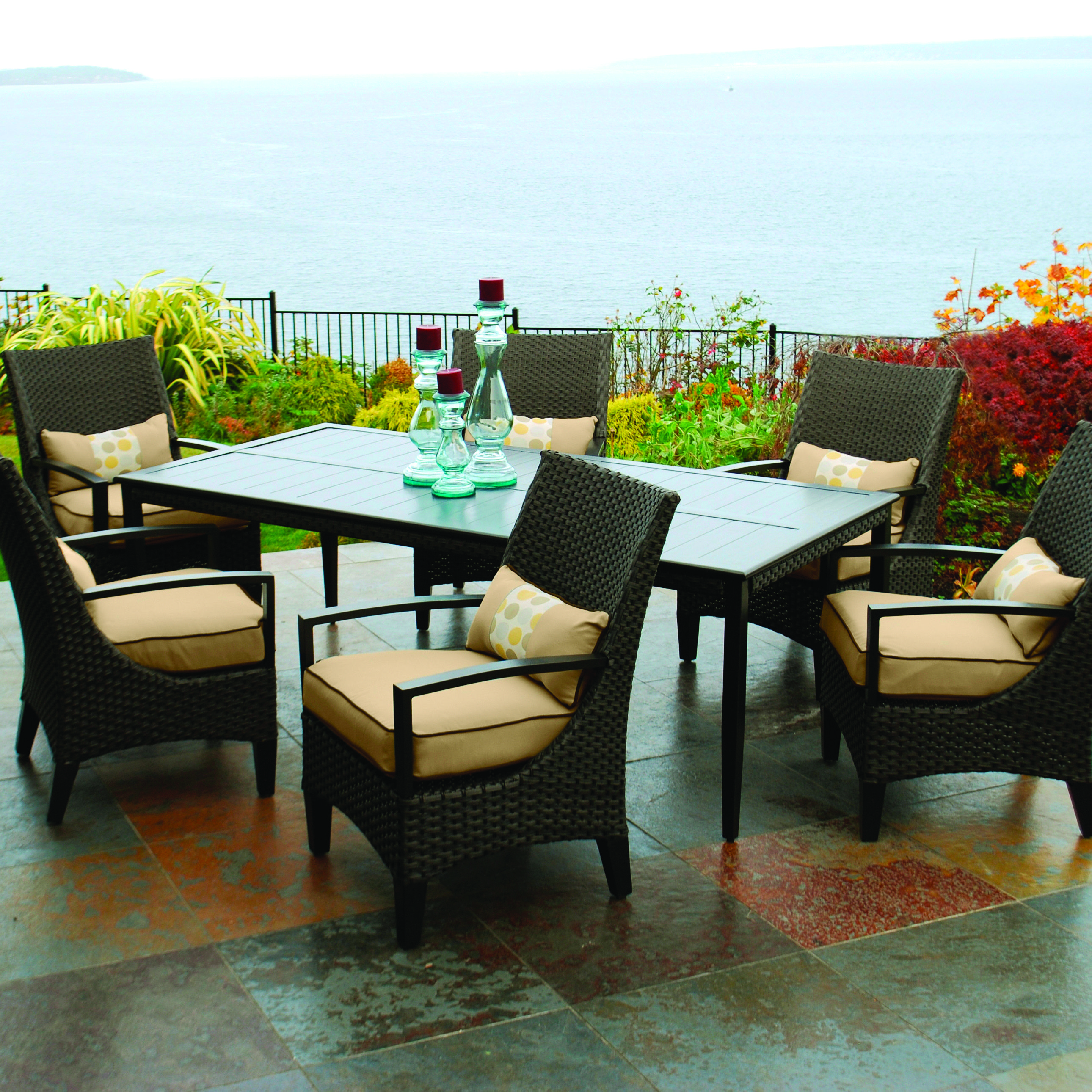 Grayson Dining Collection At Menards Outdoor Living Outdoor Furniture Outdoor Projects