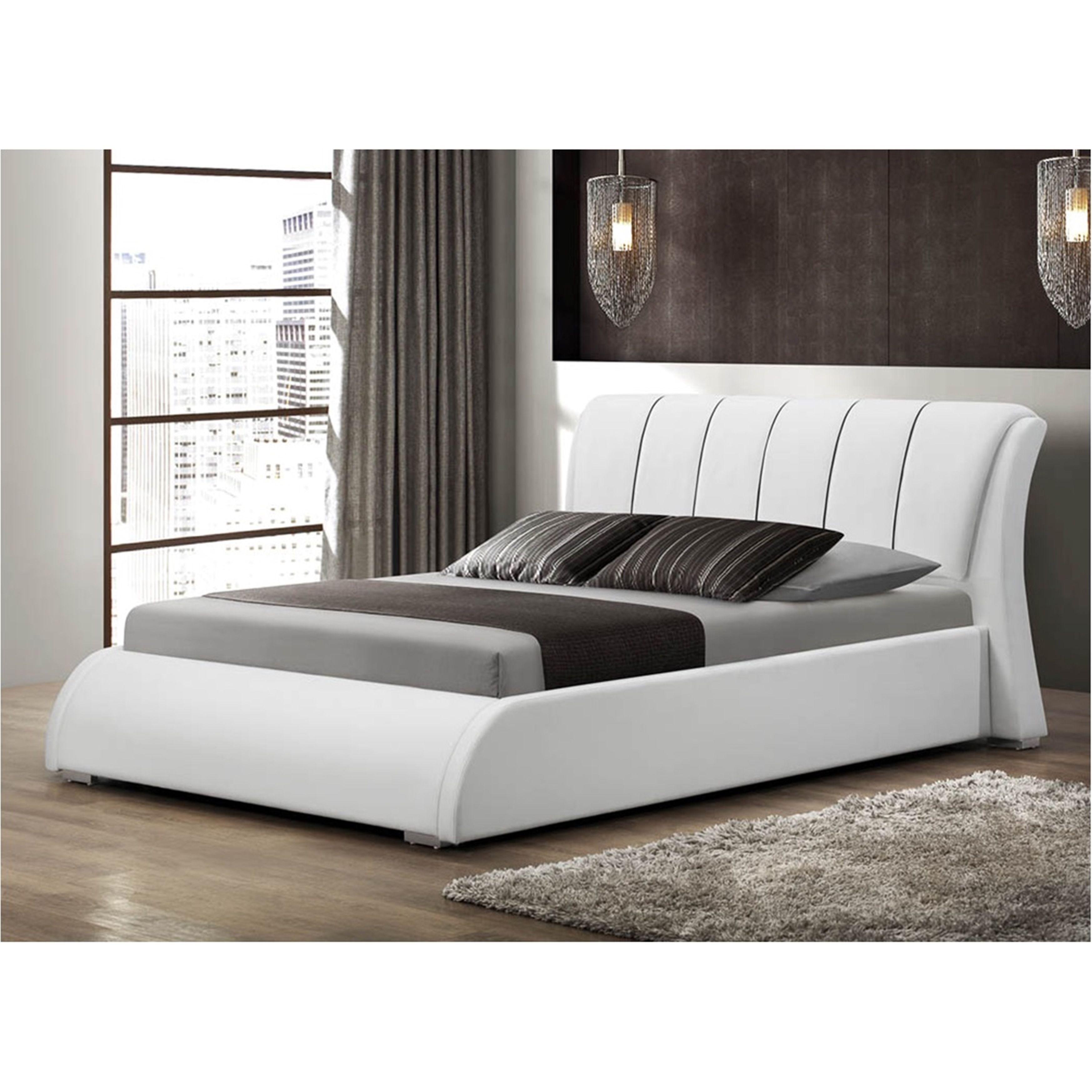 Lyke Home Katrina White Queen Platform Bed (Katrina White Queen