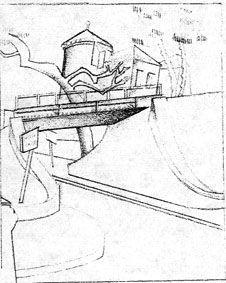 The Railroad Bridge, Tamara de Lempicka, 1926