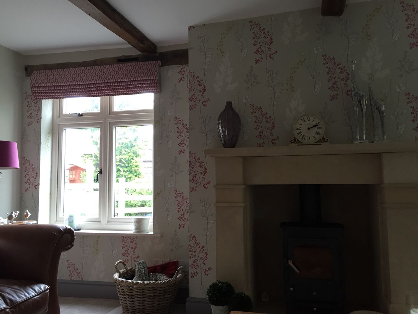 Roman blind made - completes the look!