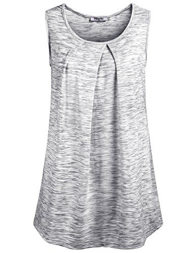 07f1d7c45529d6 Dressy Tank Tops for Women,Hibelle Ladies Scoop Neck Sleeveless Tunic Retro  Tee Shirts and Blouse Loft Clothing Plus Size Light Grey XX-Large Special  Offer: ...
