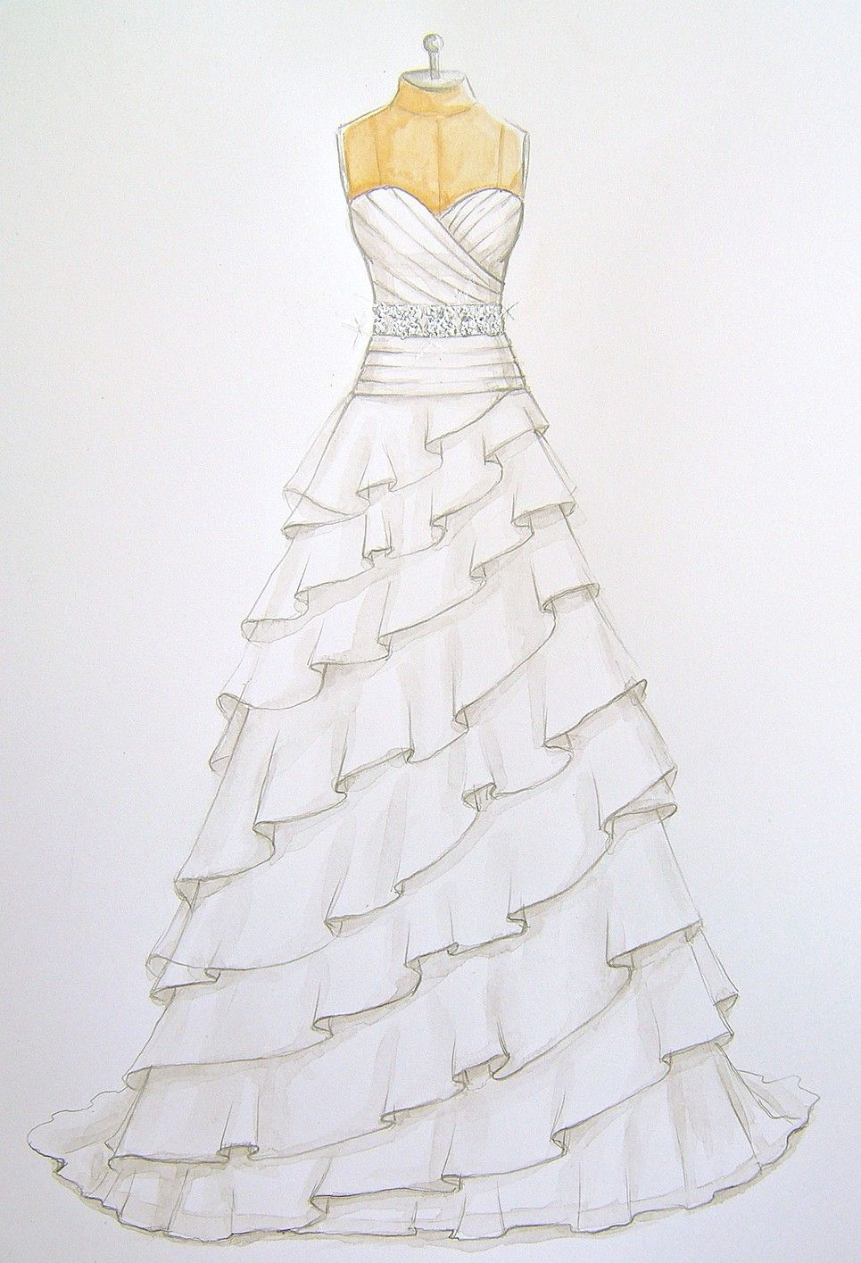 forever your dress custom wedding dress illustrations