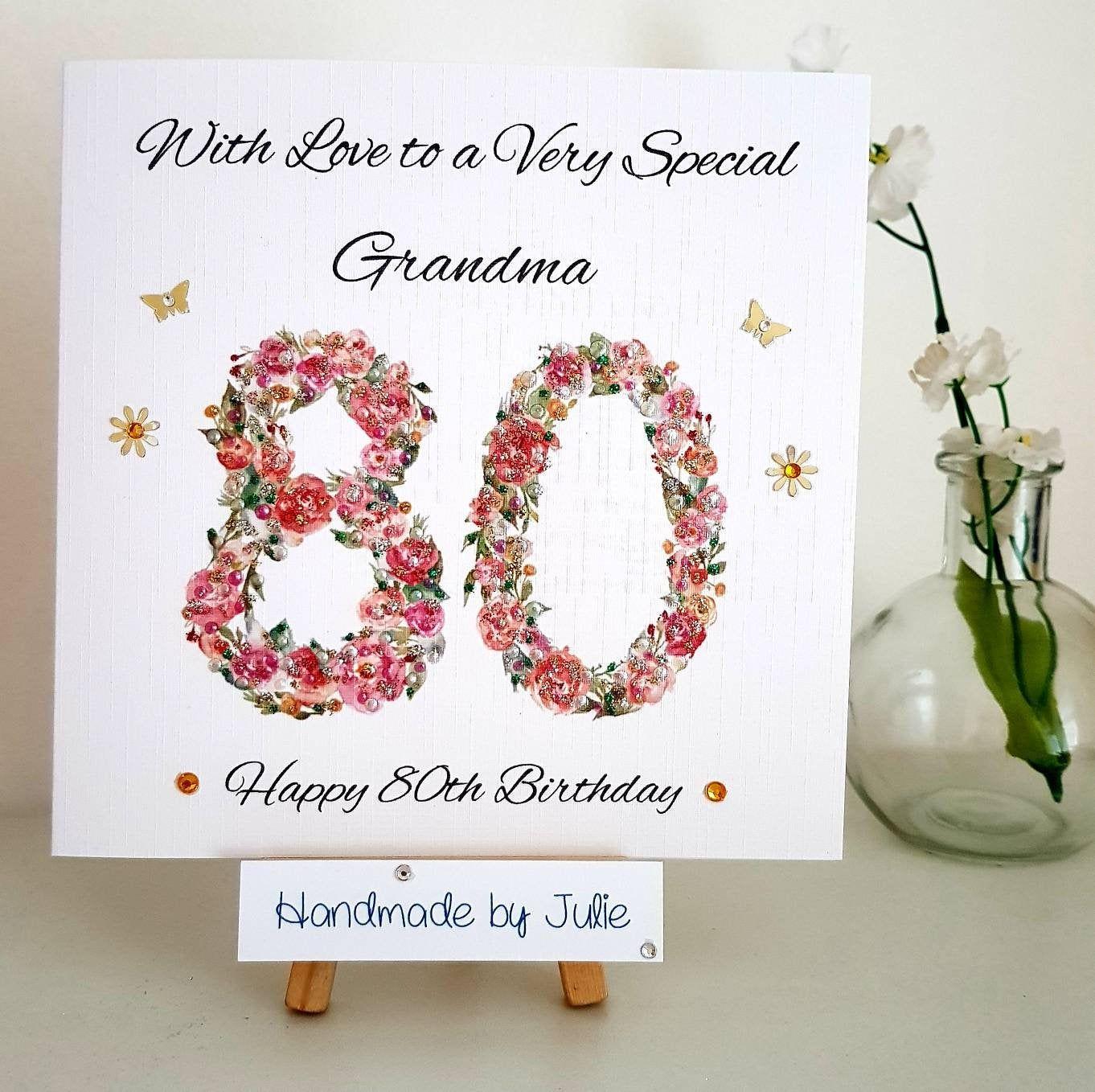 80th Birthday Card For Etsy 80th Birthday Cards Birthday Cards Birthday Cards For Mum