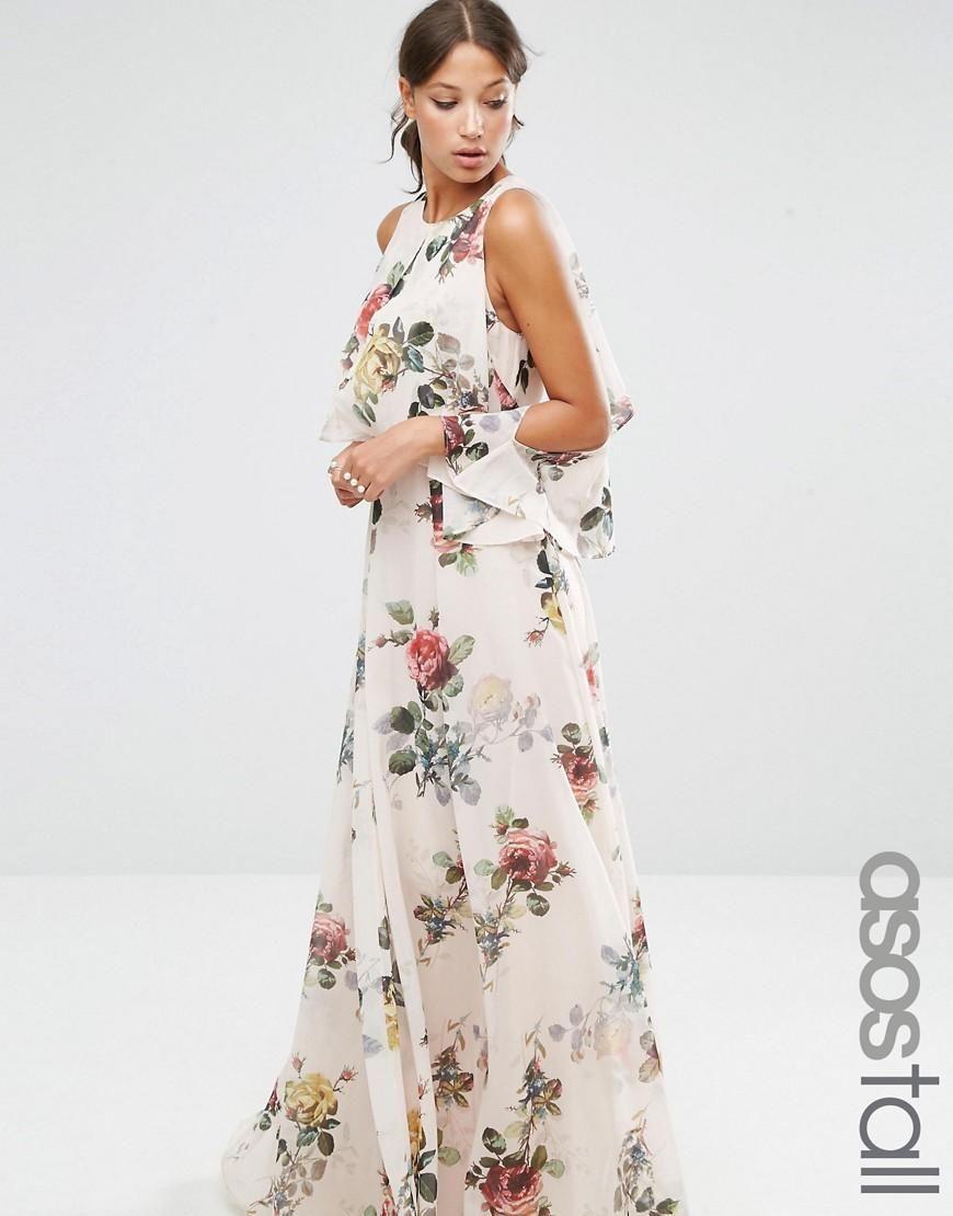 Asos Tall Asos Tall Extreme Cold Shoulder Floral Maxi Dress At Asos Cold Shoulder Floral Maxi Dress Maxi Dress Prom Floral Maxi Dress [ 1110 x 870 Pixel ]