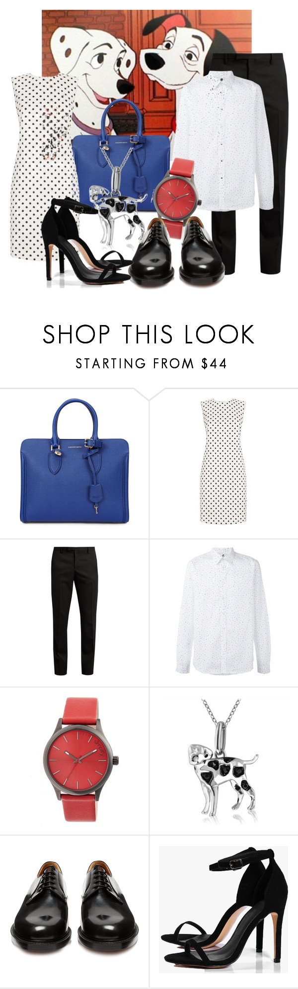 """Perdita and pongo"" by dressing-like-disney ❤ liked on Polyvore featuring Alexander McQueen, Dolce&Gabbana, Yves Saint Laurent, PS Paul Smith, Simplify, ASPCA, Vetements and Boohoo"