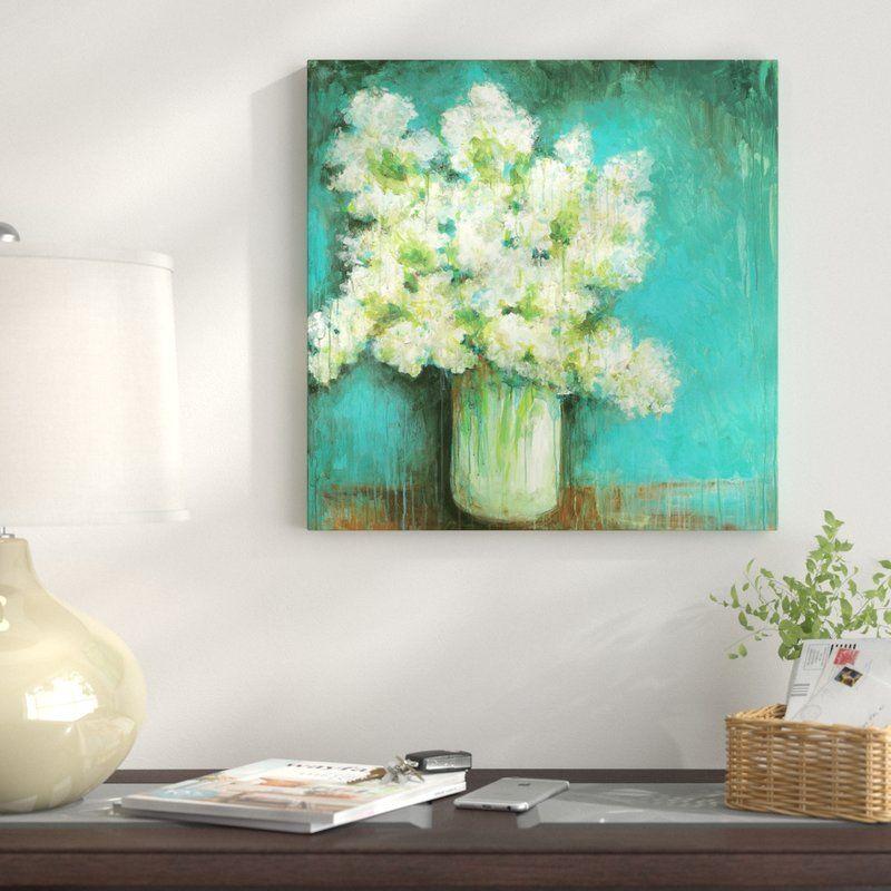 Crystal hydrangea painting print on canvas hydrangea