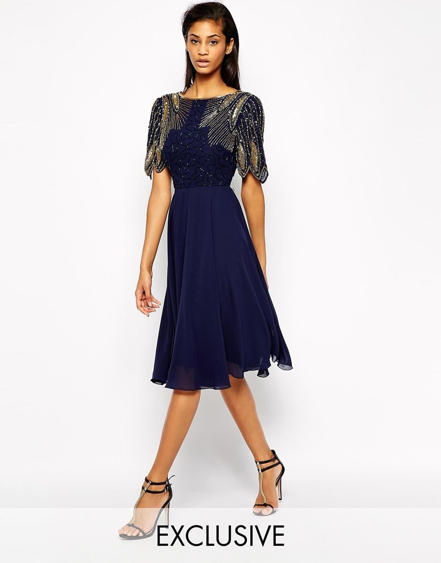 8631381a3bf Amazon.co.uk  mid length evening dress  Clothing
