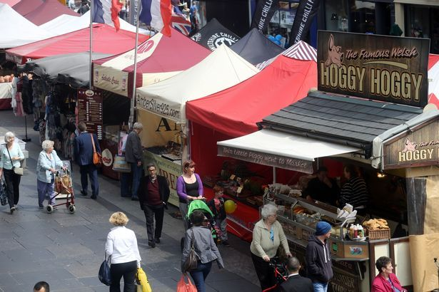 Take a look around Newcastle's International Market at Grey's Monument