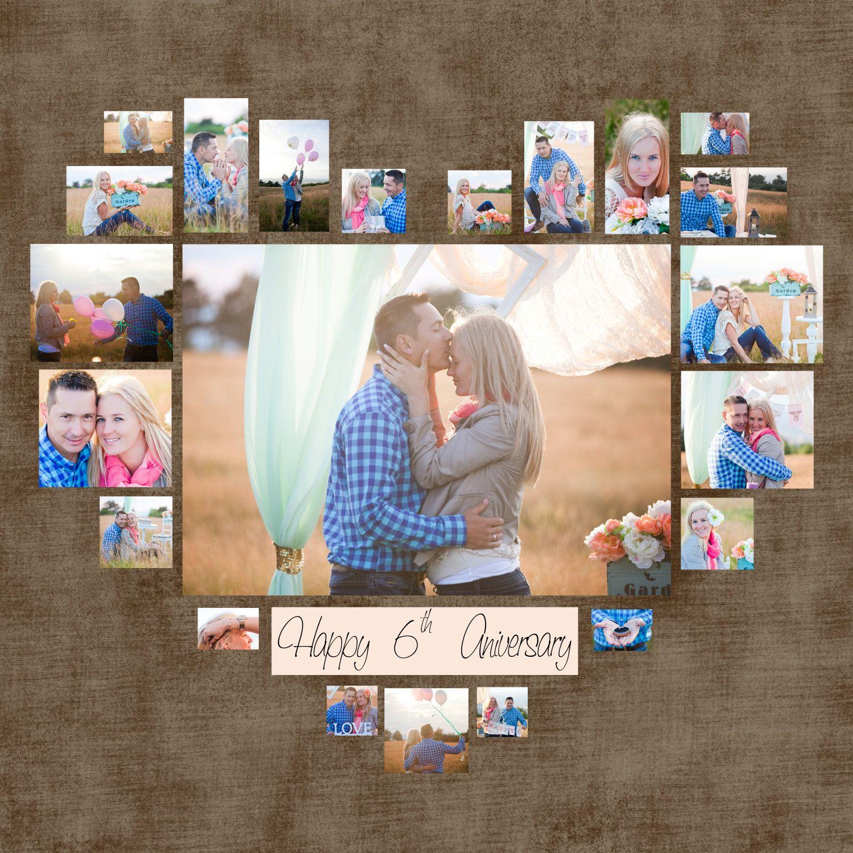 4 diferent coeur photo collage template psd cadeau de saint inventif pinterest mariages. Black Bedroom Furniture Sets. Home Design Ideas