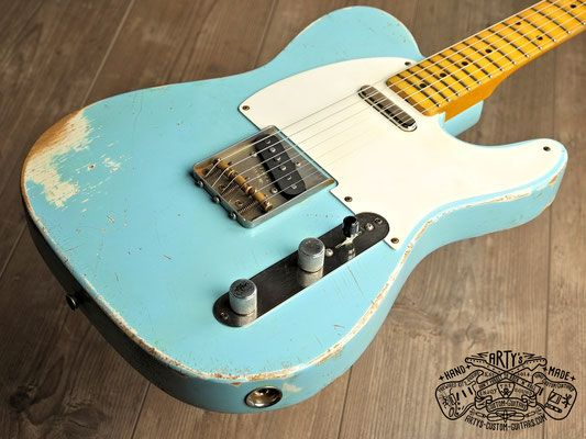 Telecaster heavy relic Butterscotch Blonde Blackguard Nocaster ...