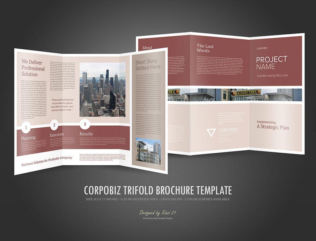 Trifold Brochure Template Corpobiz Worksheet Pinterest - Tri fold brochure template google docs