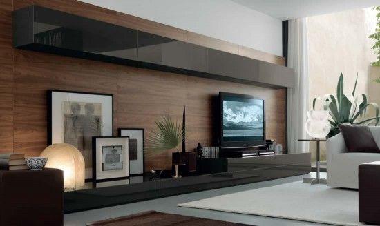 Muebles modernos de tv Mueble living Pinterest TVs, Tv walls