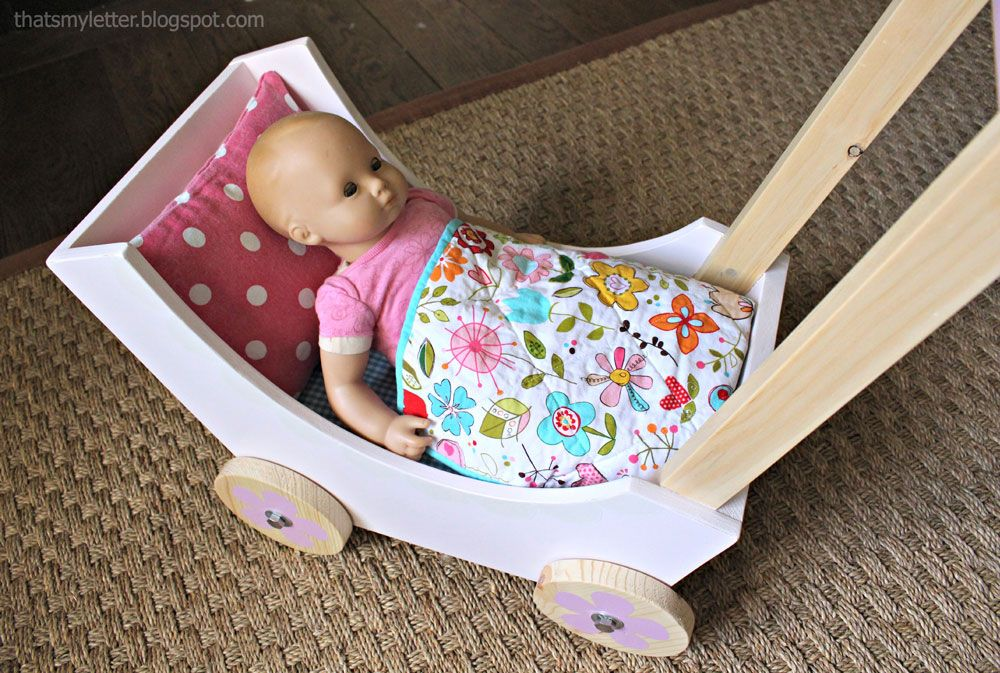 Wood Doll Pram or Stroller Diy dolls pram, Dolls prams