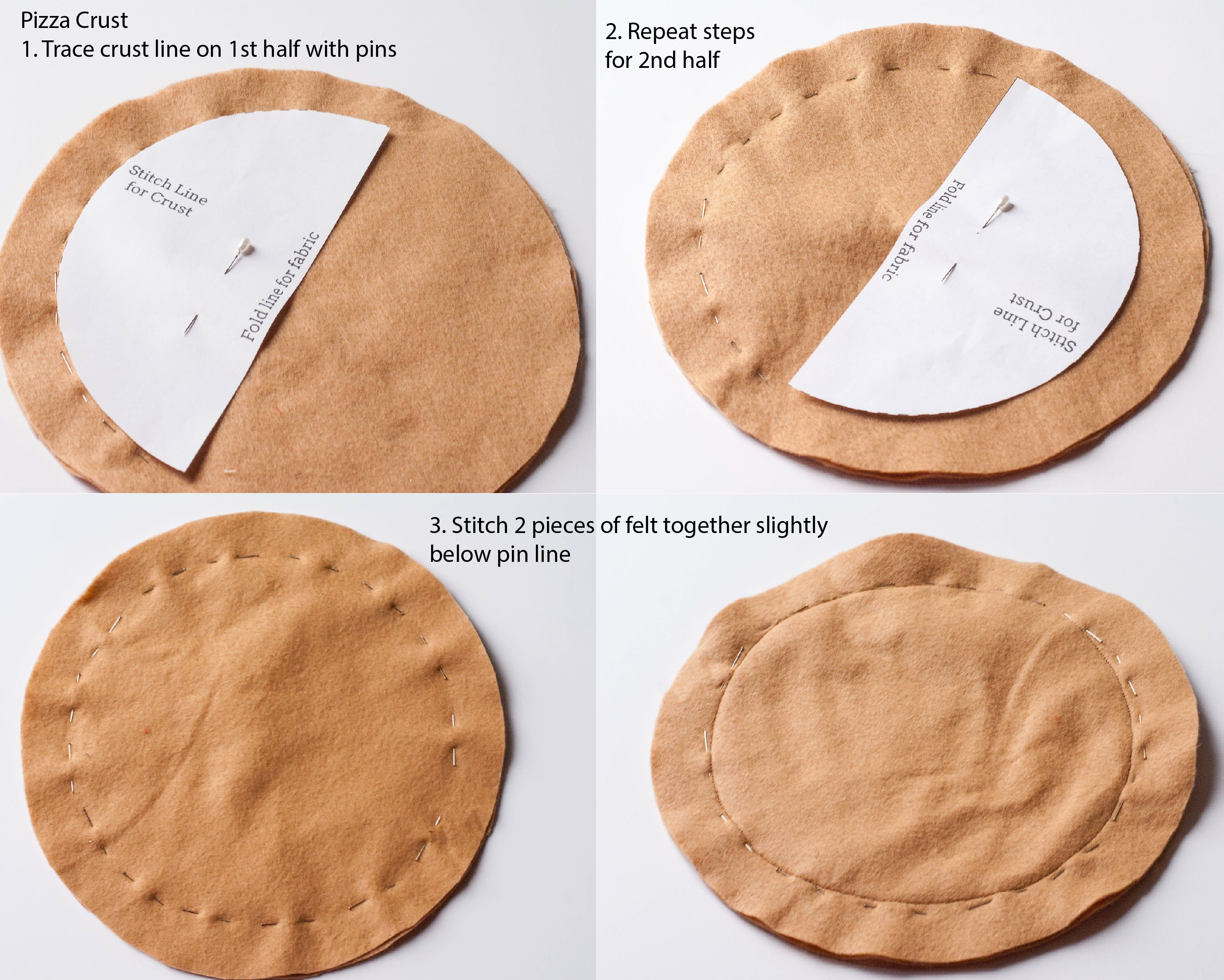 Andersruff Felt Pizza Template Crust Diy Pattern Pizzaria