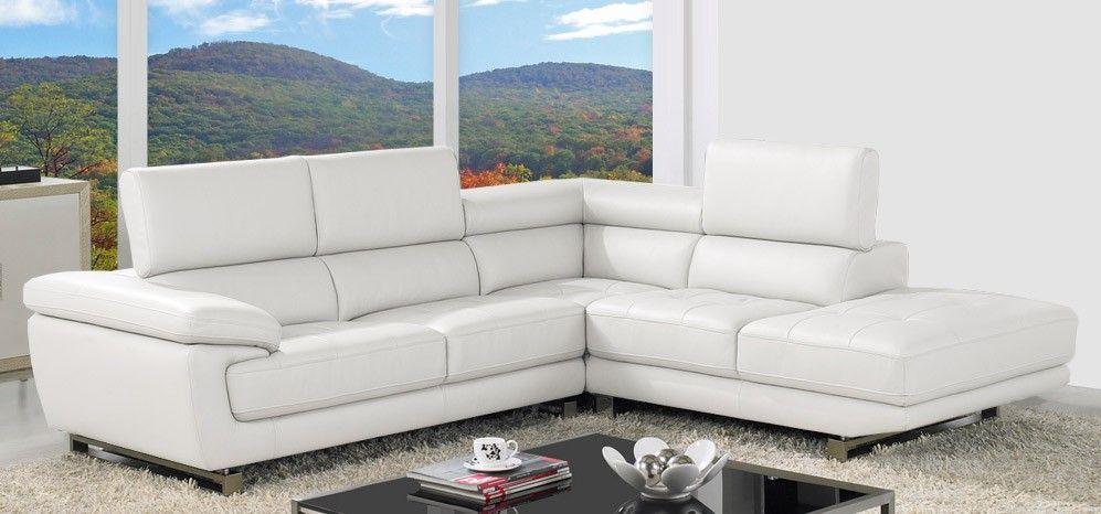 Valencia Corner Ivory White Rhf Grey Leather Corner Sofa