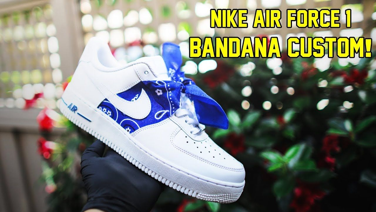 NIKE AIR FORCE 1 'BANDANA' CUSTOM TUTORIAL! (EASY