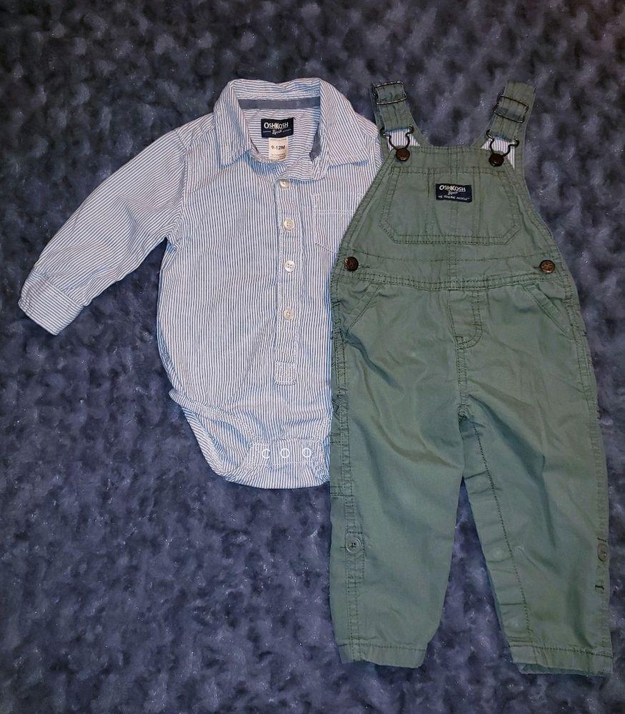 79c6c58d0 VGUC Oshkosh Bgosh Baby Boy Clothes 9-12 Months 2 Piece Bodysuit ...