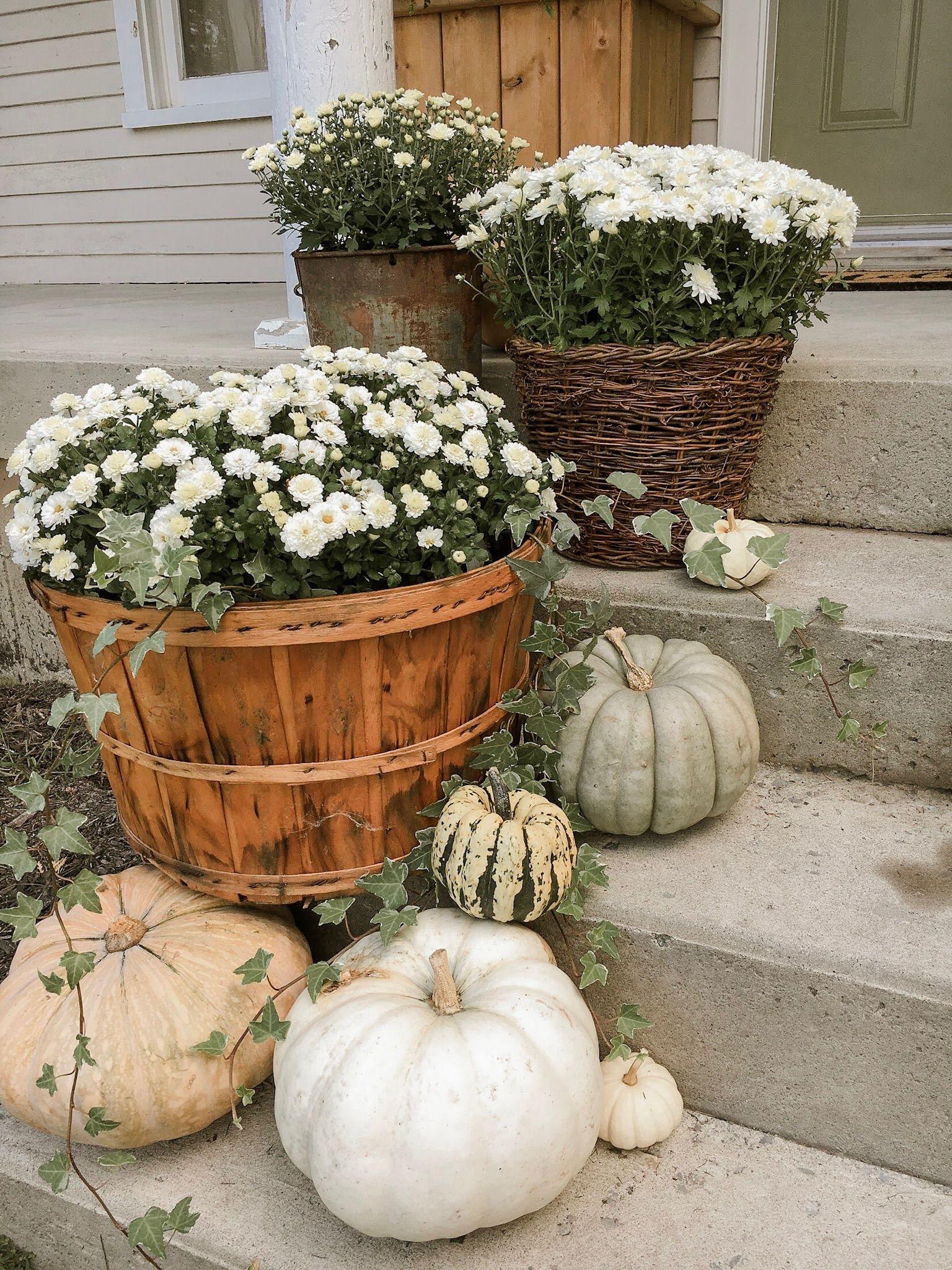 My Farmhouse Fall Front Porch - Arrows & Twine #fallfrontporchdecor