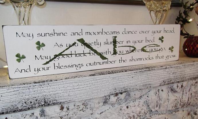 Irish Blessing Baby Boy S Nursery Customized Sign Wedding May Sunshine And Moonbeams