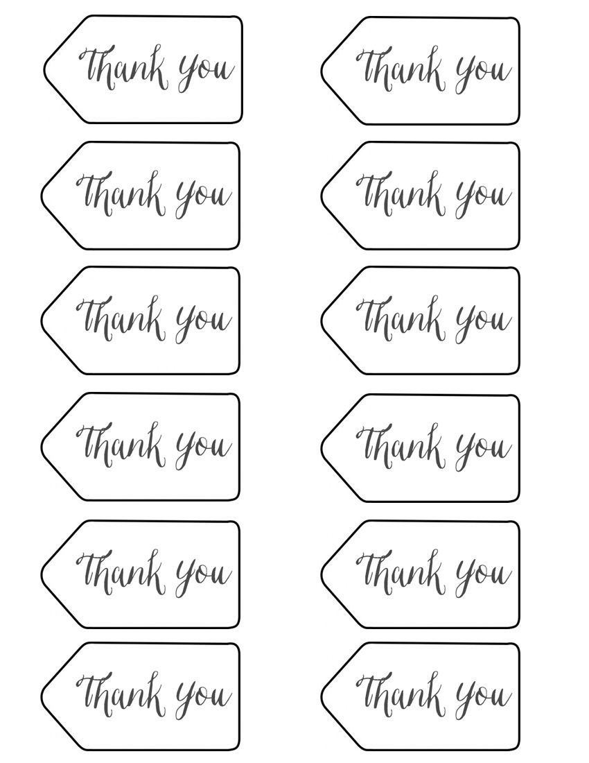 photo about Thank You Printable Tag identified as Styled X3 Department Twig Pencils Birthdays Thank on your own tag