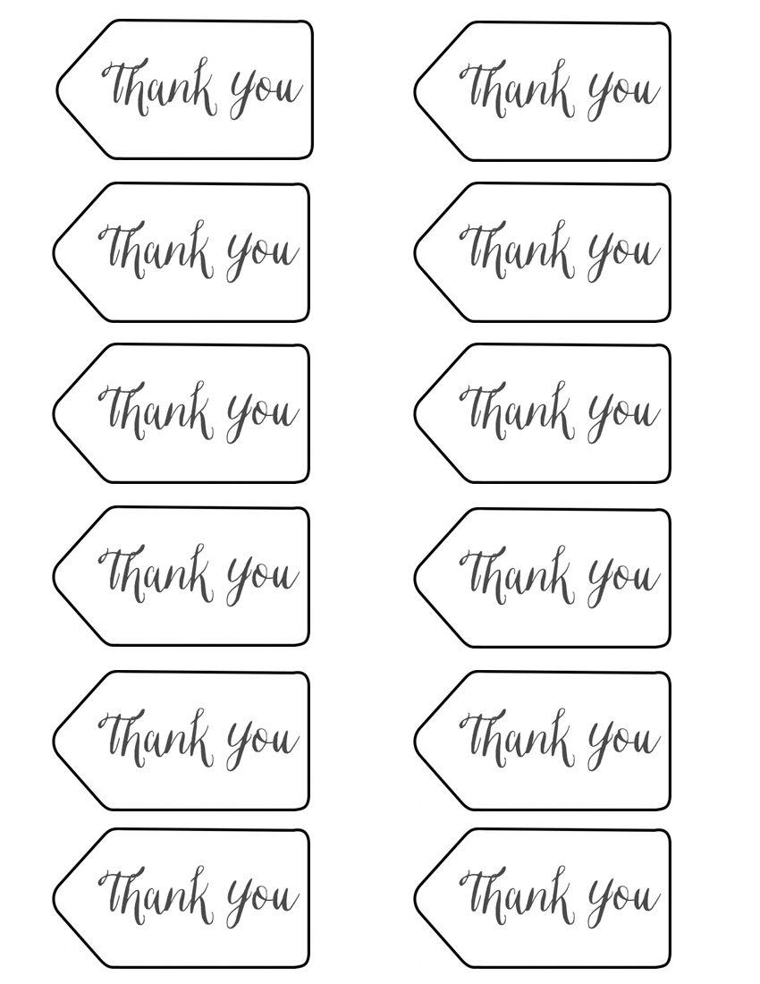 Thank you tags printable birthdays pinterest gift babies thank you tags printable negle Choice Image