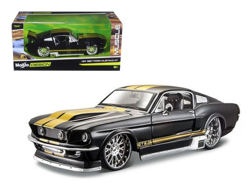 1967 Ford Mustang Gt Black Classic Muscle 1 24 Diecast Model