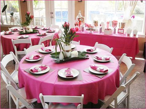 Have Utensils Plates On Table Before Guests Arrive Baby Shower Set Up Idea