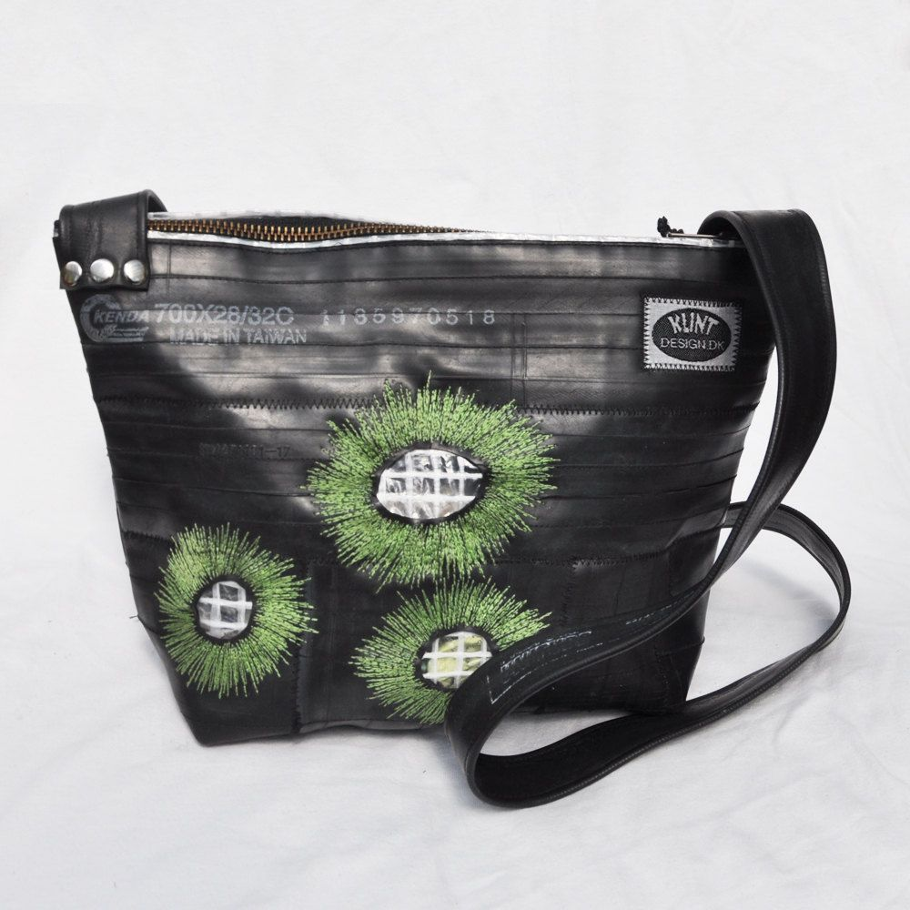 Eco-friendly bag made from recycled bike inner tubes -