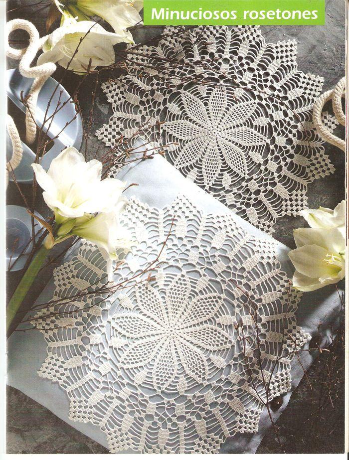 Crochet Style ~: ~Minuciosos rosetones~ | Hogar 2 | Pinterest ...
