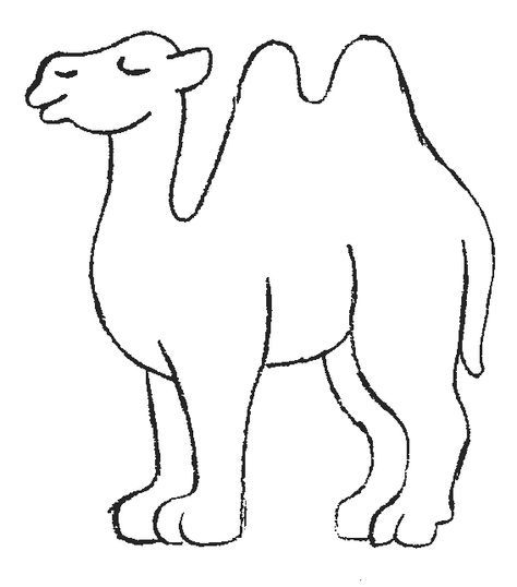 Printable Picture of a Camel | Camel Coloring Pages ...