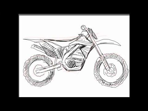 How To Draw Vehicles How To Draw Dirt Bikes Youtube