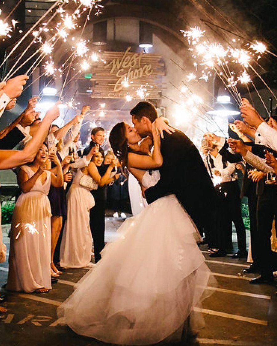 Wedding Sparklers In 2020 Wedding Sparklers Sparkler Exit Wedding Wedding Picture Poses