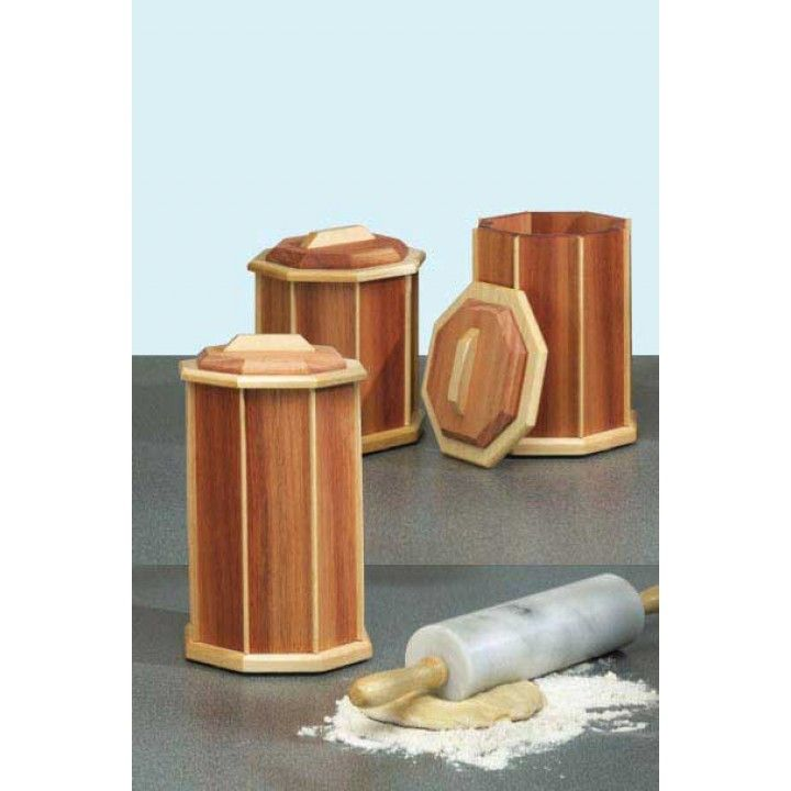 Make Your Own Wooden Kitchen Canisters These Would Not Only Be So Cute But A Great Gift