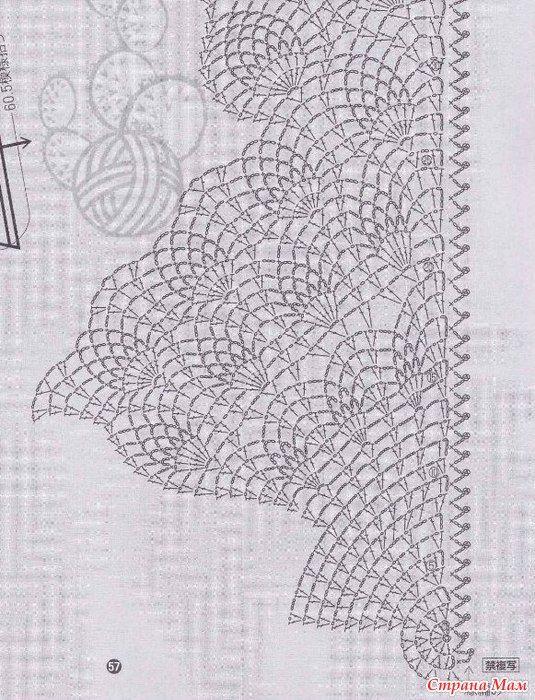 шаль ананасы в шампанском вязание крючком шале вязание