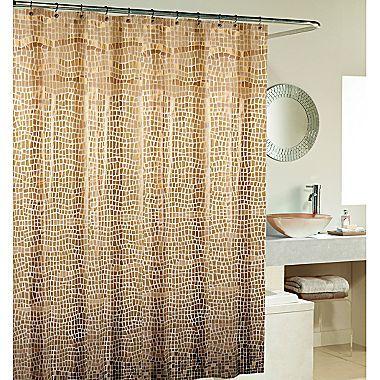 Lagoon Bronze Vinyl Shower Curtain