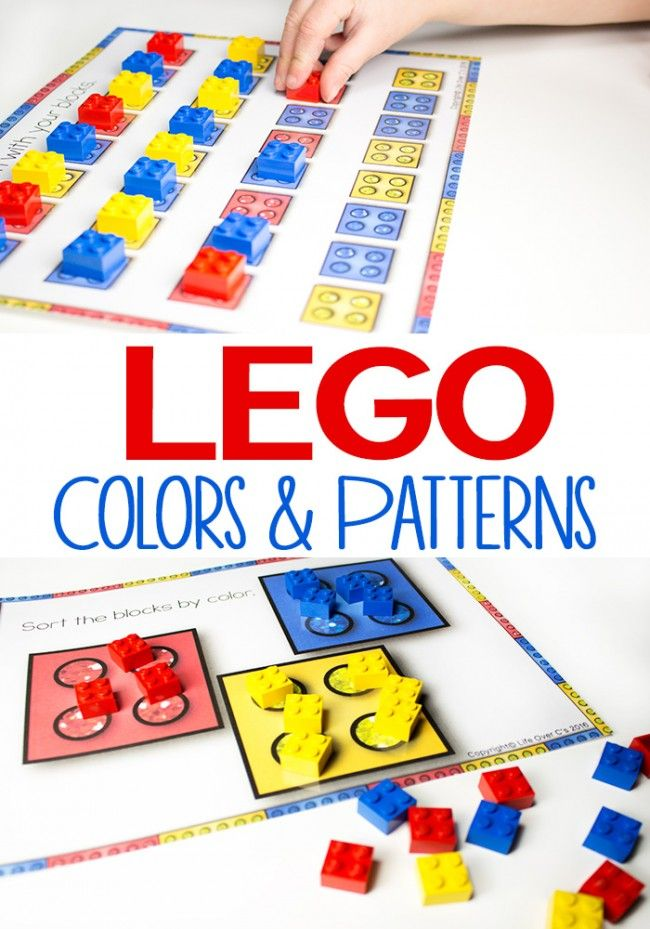 free lego colors and patterns activity for kids great sorting activity for toddler preschool - Color Patterns For Kids