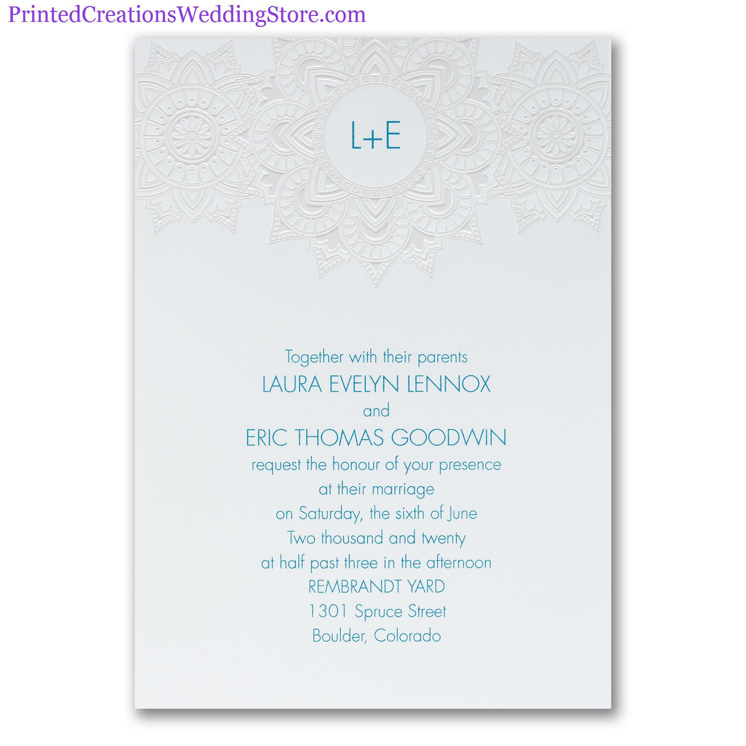 Intricate Flower Invitation - Beautiful pattern surrounds your ...