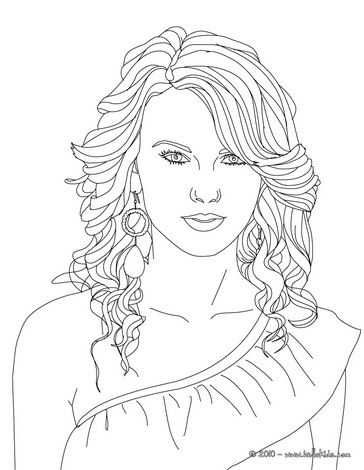Image Detail For Taylor Swift Coloring Page Taylor Swift