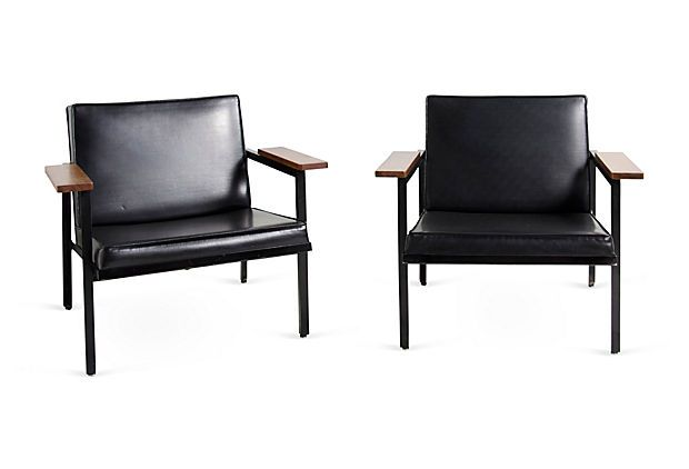 George Nelson Lounge Chairs, Pair on OneKingsLane.com
