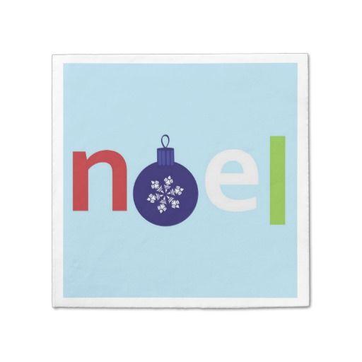 Noel Paper Napkin  #Noel #Christmas #Napkin