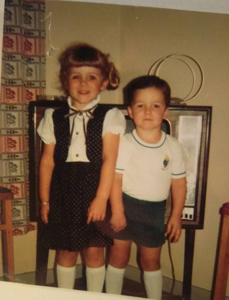 Erin Mullen - Me and my brother ready for the kids club at Cleethorpes, probably around 1981 or 1982 #TakeMeBack