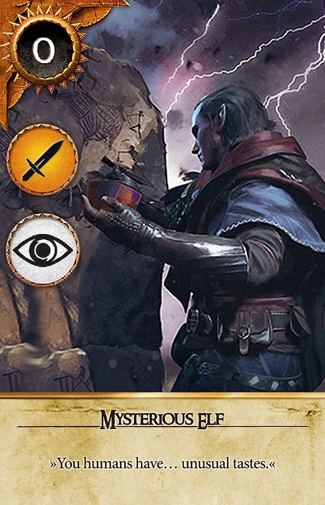 Mysterious elf gwent card the witcher 3 wild hunt - Ciri gwent card witcher 3 ...