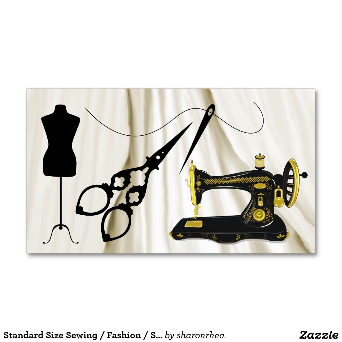 Standard Size Sewing / Fashion / Seamstress Business Card | Business ...